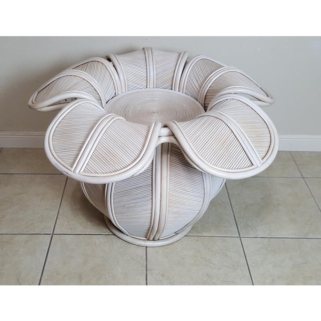 Bamboo Gabriella Crespi Attributed Sculptural Flower Dining Table For Sale - Image 7 of 9