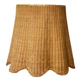 Image of Vintage Regency Woven Rattan Ghost Side Table For Sale