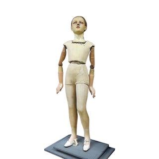 Fine Antique French Wax Head Sculpture & Mannequin by Pierre Imans-Paris-Appears to Be Saint Bernadette For Sale