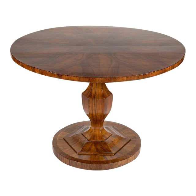 Fine Biedermeier Figured Walnut Centre Table For Sale