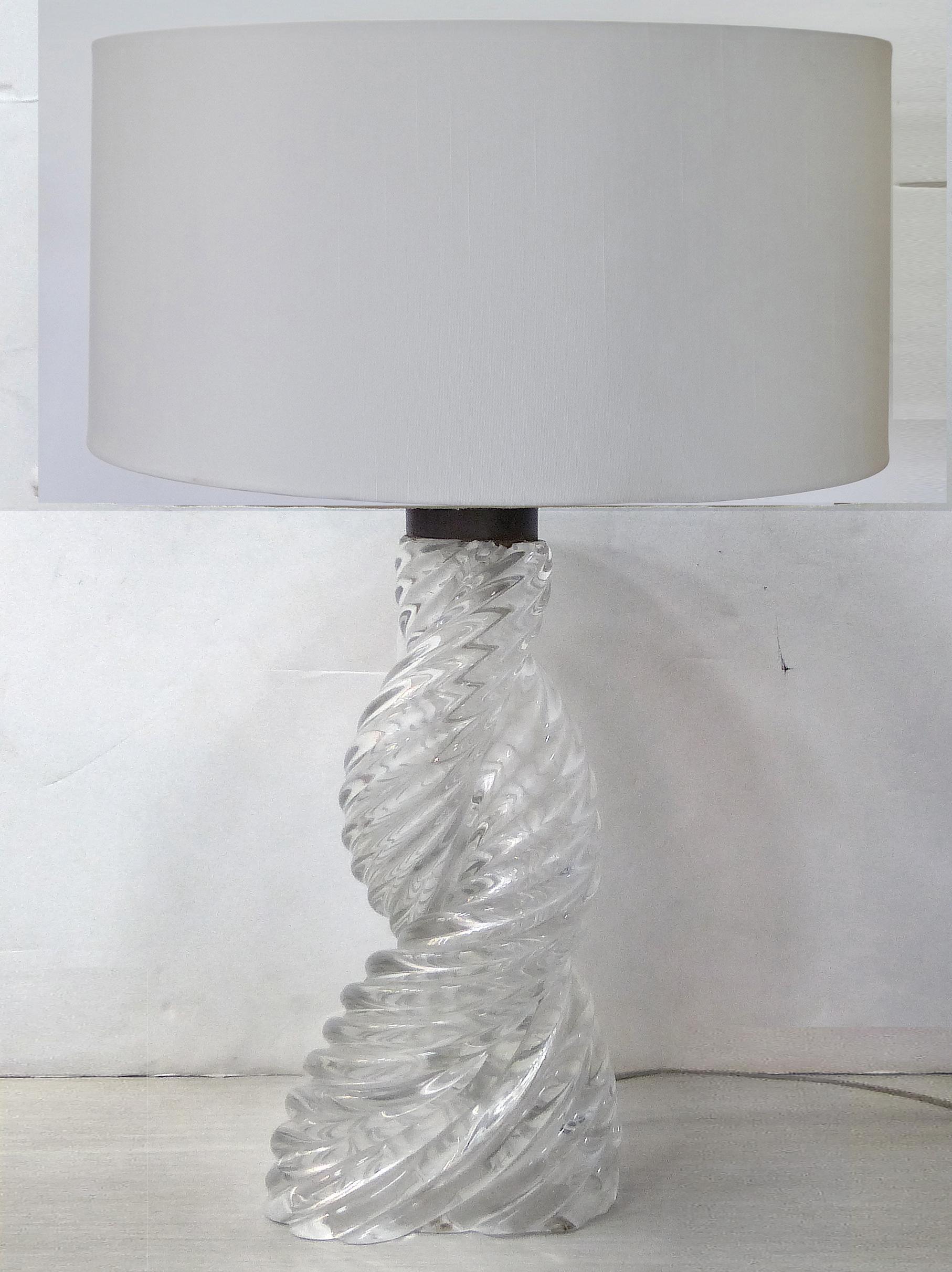 Paolo Venini Art Deco Swirled Glass Table L& - Image 2 of 11  sc 1 st  Chairish & Paolo Venini Art Deco Swirled Glass Table Lamp | Chairish