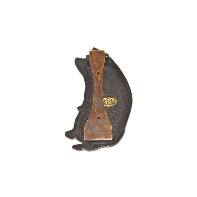 Smiling Pig Brass Door Knocker For Sale - Image 6 of 9