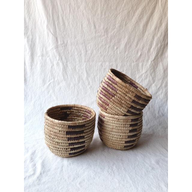 Tribal Vintage Tribal Grass Baskets - Set of 3 For Sale - Image 3 of 8