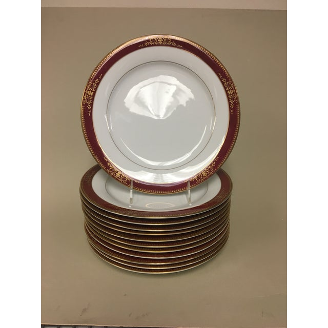 1970s Noritake Goldmere Dinner Plates - Set of 12 For Sale - Image 5 of 5