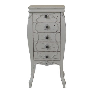 French Style Paint Decorated Lingerie Chest For Sale