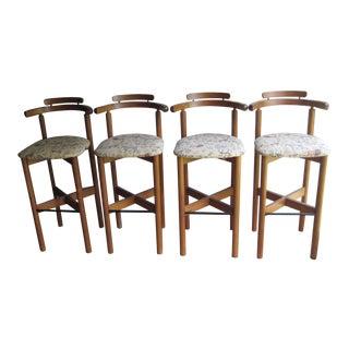 Midcentury Danish Modern Mobler Bar Stools- Set of 4 For Sale