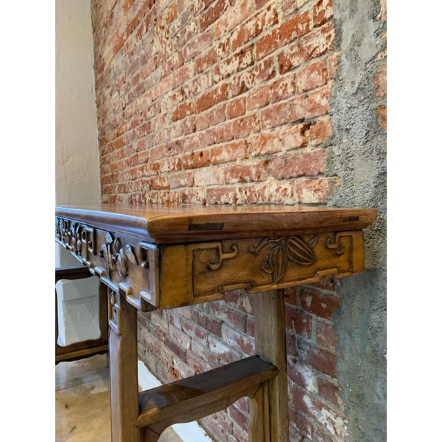 Late 19th Century Antique Hand Carved Wood Altar Table/Console For Sale - Image 5 of 12