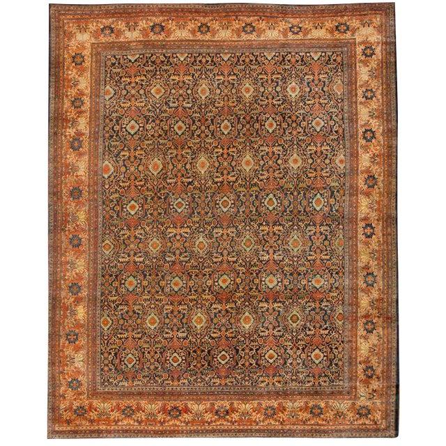 Antique 19th Century Sarouk Carpet For Sale