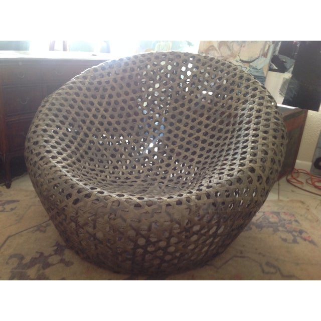 Modernist Rattan Wire Chair - Image 2 of 11