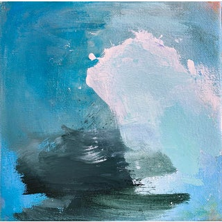 """High Surf"" by Trixie Pitts Mini Abstract Oil Painting For Sale"
