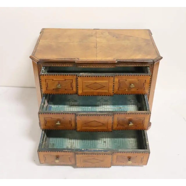Early 19th Century Early 19th Century Italian Neoclassical Fruitwood Jewelry or Silver Chest For Sale - Image 5 of 8