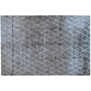 Stark Studio Rugs Contemporary Moroccan Silk Rug - 6′ × 9′2″ For Sale