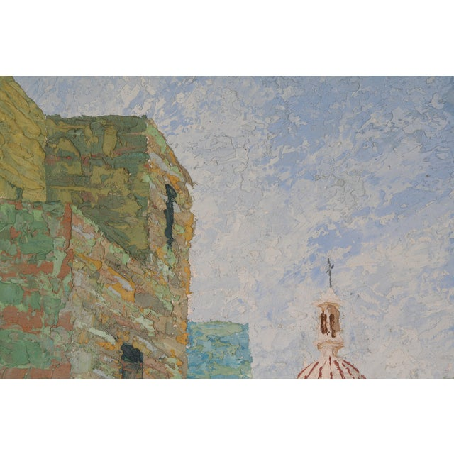 Oil Painting of European City - Image 6 of 7