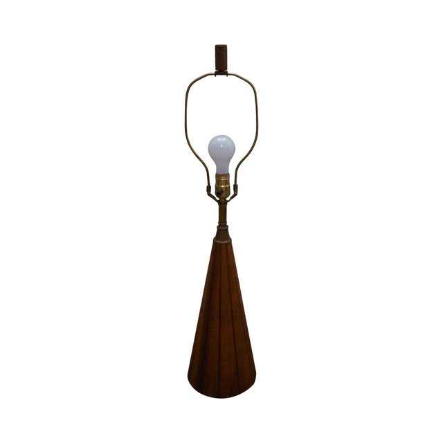 Brandt Ranch Oak Cone Shaped Table Lamp - Image 1 of 10