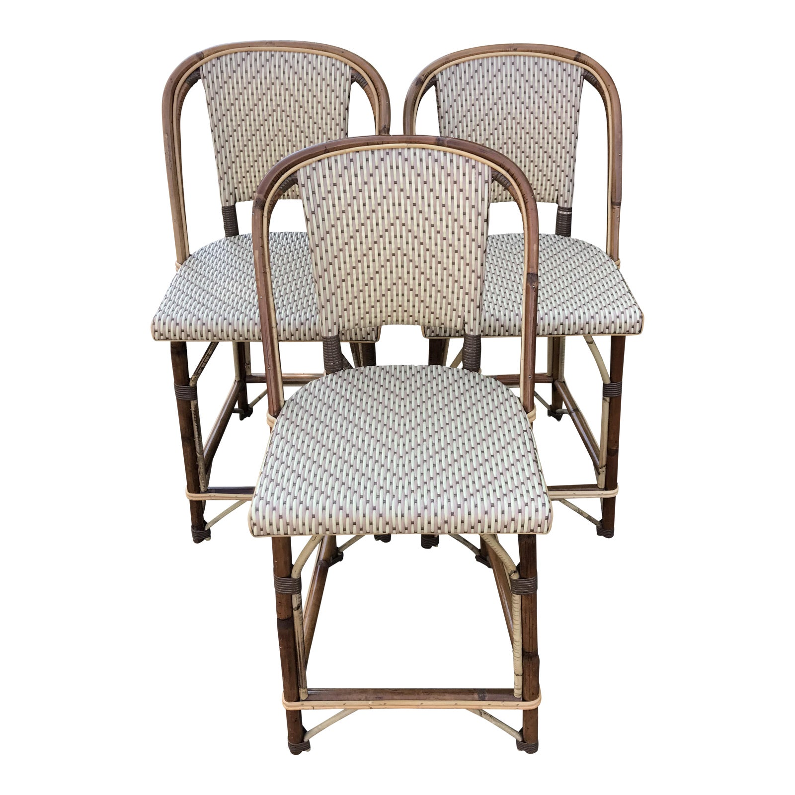 Set Of 3 Tk Collections French Bistro Counter Stools