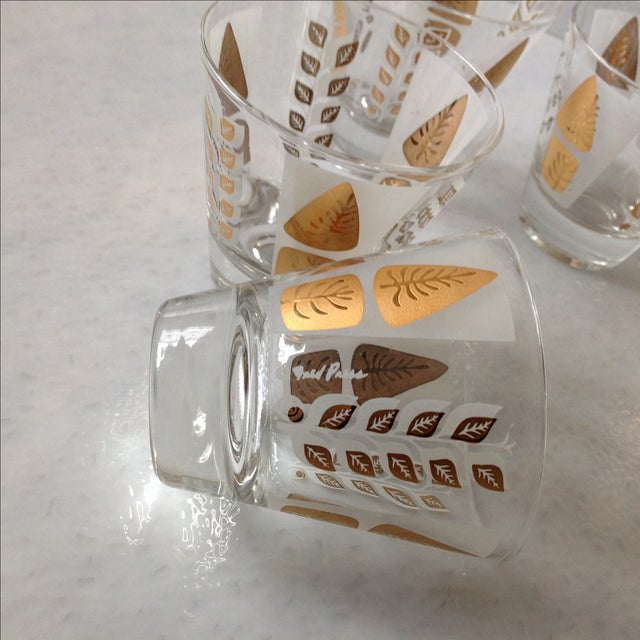 Fred Press Mid-Century Gold Tree Shot Glasses- S/8 - Image 7 of 11