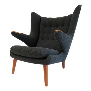 "C1950s Vintage Early Hans Wegner(Designer) for A. P. Stolen(Manufacture) ""Papa Bear"" Chair, Denmark For Sale"