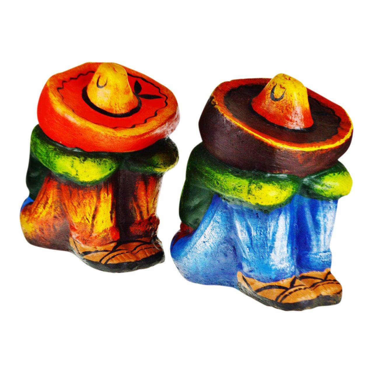 Vintage Ceramic Sleeping Mexican Garden Statues A Pair