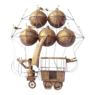 C. Jere 1960's Brutalist Large Balloon Wall Sculpture For Sale