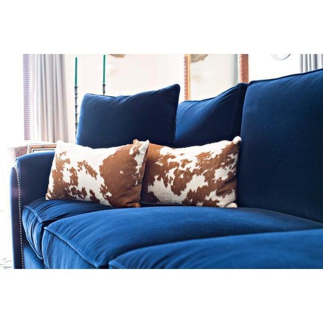 KLASP Home Calf Hide Hair Lumbar Pillows For Sale - Image 4 of 5