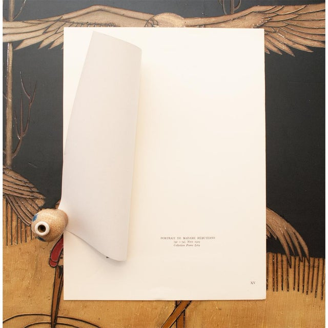 "Amedeo Clemente Modigliani 1947 Amedeo Modigliani ""Madame Hebuterne"", First Editionl Parisian Lithograph For Sale - Image 4 of 8"