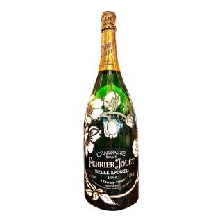 Late 20th Century Handpainted Perrier-Jouët Champagne Specimen Bottle For Sale