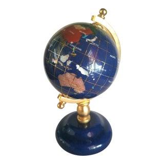 Vintage Lapis Stone Globe