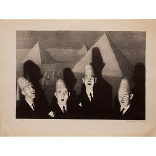 "1939 Grant Wood, First Edition Period Photogravure ""Shriners' Quartet"" For Sale"