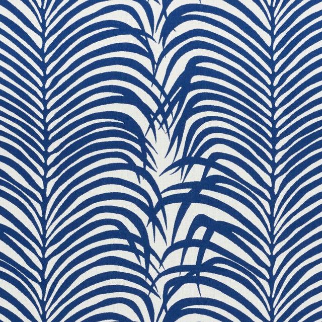 Schumacher Schumacher Zebra Palm Indoor/Outdoor Fabric in Navy For Sale - Image 4 of 4