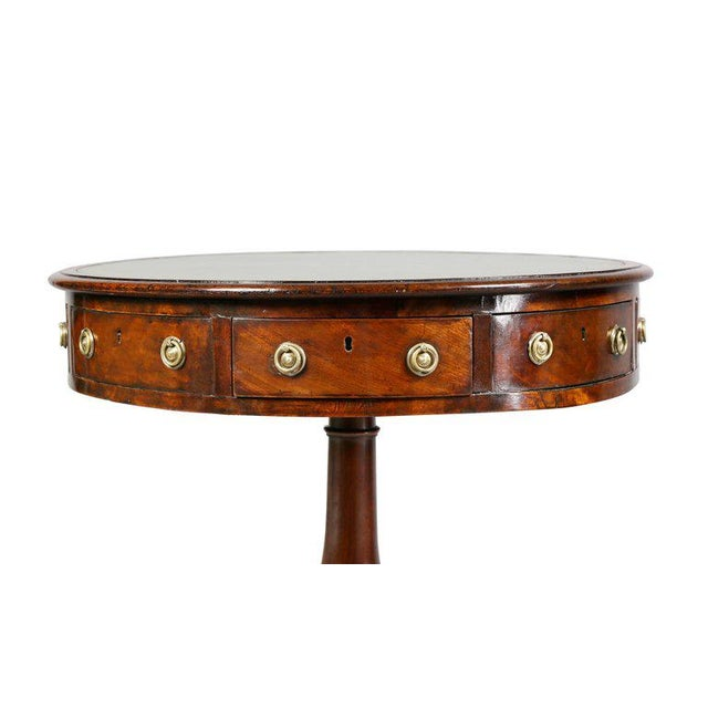 Regency Mahogany and Ebony Small Drum Table For Sale - Image 4 of 9