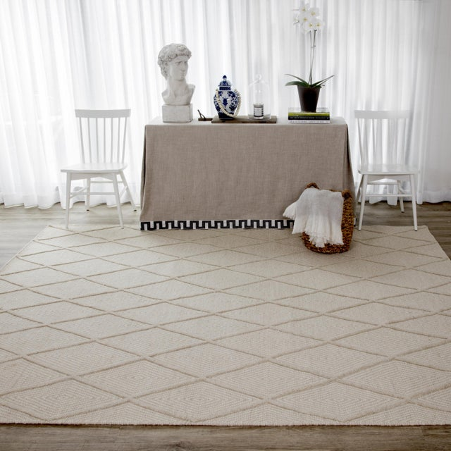 2010s Erin Gates by Momeni Langdon Spring Beige Hand Woven Wool Area Rug - 8′6″ × 11′6″ For Sale - Image 5 of 7