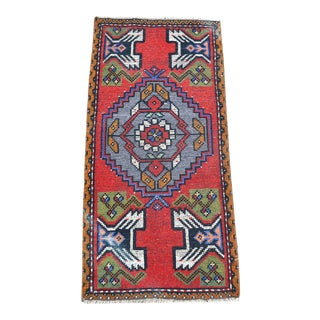 1960s Vintage Oushak Handknotted Wool Rug For Sale