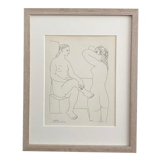 """""""Two Women in the Bath"""" 1956 German Lithograph Signed in Plate by Pablo Picasso For Sale"""