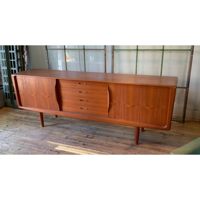 Danish 1950s Teak Credenza Cabinet For Sale - Image 4 of 11
