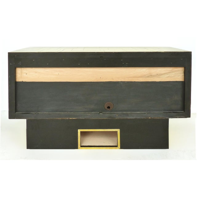 Metal Paul Evans Directional Brass Cityscape Credenza Cabinet With 2 Doors For Sale - Image 7 of 10
