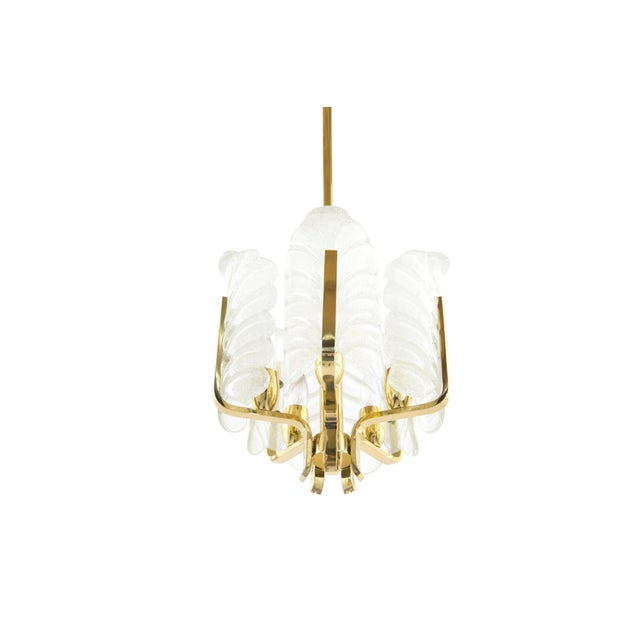 """A beautiful """"Hollywood Regency style"""" chandelier created by Carl Fagerlund for Orrefors, Sweden, 1960s. Fantastic fixture..."""