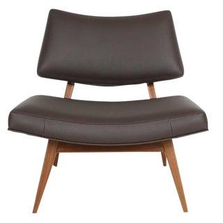 Customizable Jari Walnut Slipper Chair For Sale