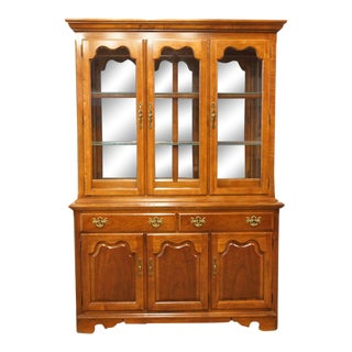 Thomasville Furniture Winston Court Collection Buffet With Illuminated China Cabinet For Sale