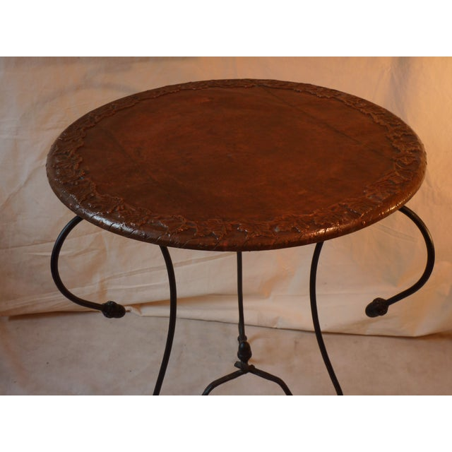 Copper Top Table For Sale - Image 4 of 5