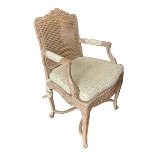 French Fauteuil Cane Back Chair For Sale