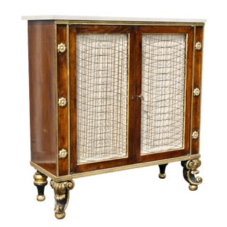 Regency Style Rosewood and Gilded Credenza For Sale