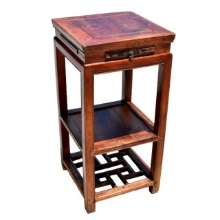 19th Century Chinese Antique Side Table Lamp Table For Sale