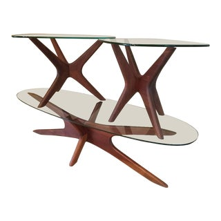Adrian Pearsall Mid-Century Modern Walnut Jacks Coffee Table and End Tables - 3 Pc. Set For Sale
