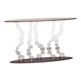 Italian Glass Bubble Console