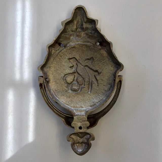 "Asian Brass Asian ""Welcome"" Door Knocker For Sale - Image 3 of 4"