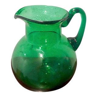 Fenton Emerald Green Glass Ball Pitcher