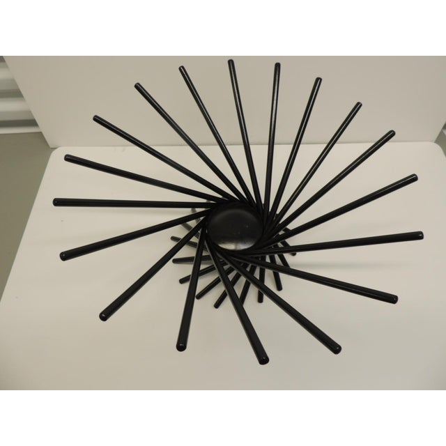Mid Century Modern Fruit Basket Black ebonized fruit basked in the shape of a spiral from the MOMA store. Designed by...