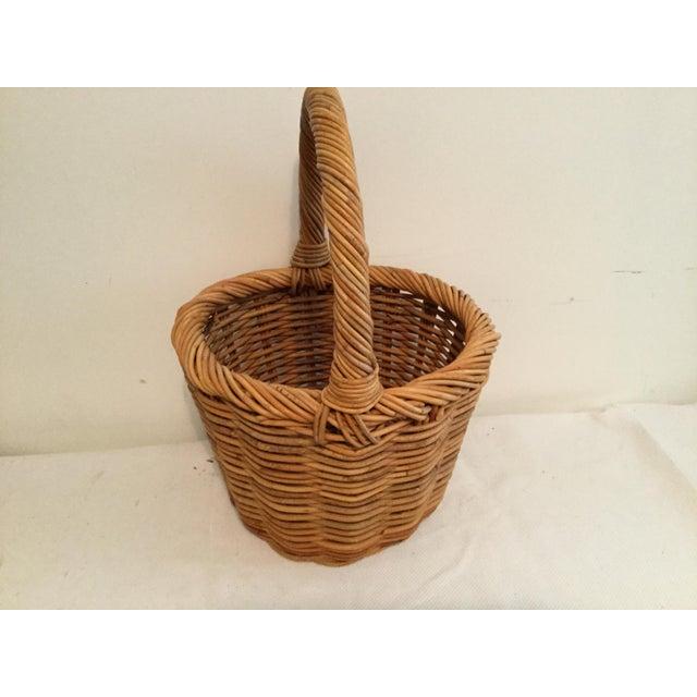 Vintage Wishing Well Basket For Sale - Image 4 of 8