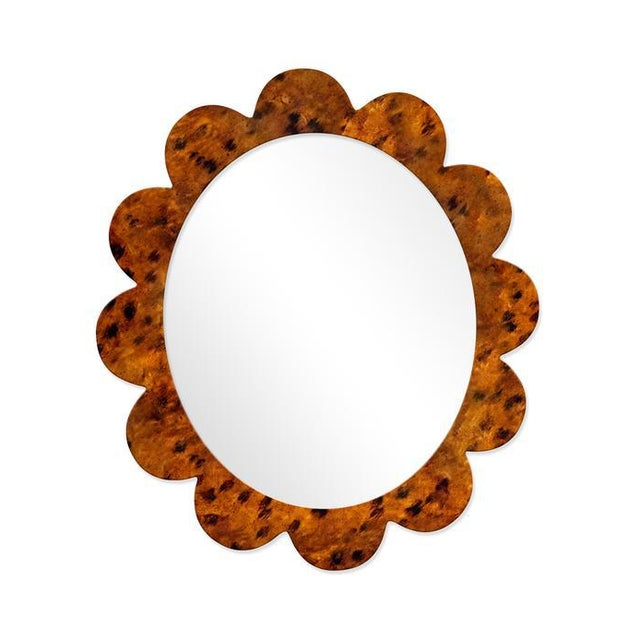 Contemporary Fleur Home x Chairish Iris Oval Mirror in Tortoise, 48x42 For Sale - Image 3 of 3