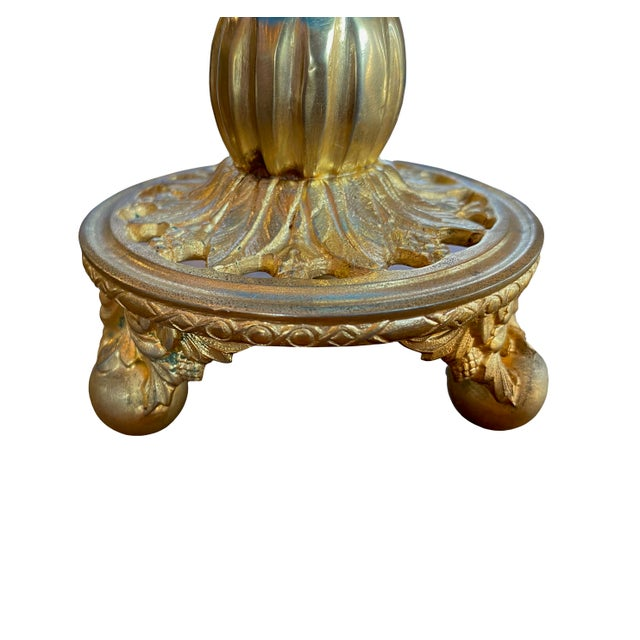 Baccarat French Baccarat Opaline Vase Mounted in Gilt Bronze Ormolu For Sale - Image 4 of 5